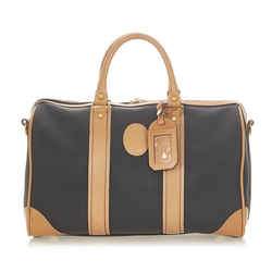 Black Dior Leather Boston Bag