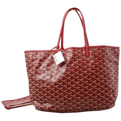 Goyard Red Chevron St Louis PM Tote With Pouch 861383
