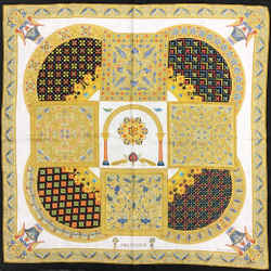 Hermes Black and Gold Ciels Byzantins Scarf/Wrap