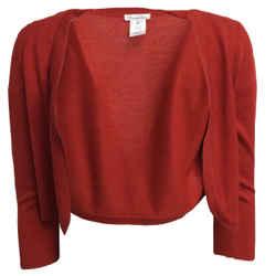 Oscar de la Renta Shrug Red Sweater