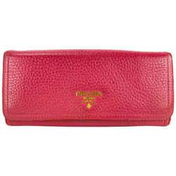 Prada Pink Leather Flap Wallet 23PRL1125