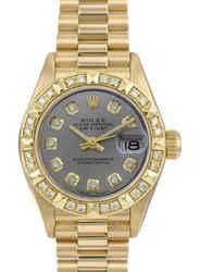 Rolex Lady Datejust 69178 Diamond Dial Diamond Bezel 26mm Watch