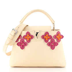 Capucines Bag Limited Edition Leather with Applique PM
