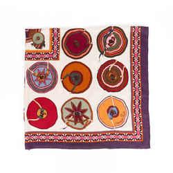 Hermes Scarf Belles du Mexique Multicolor Cashmere Silk Shawl