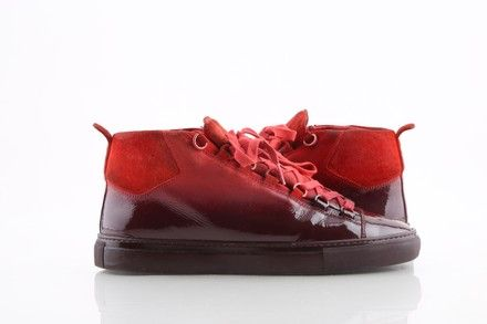 Red Gradient Ombre Sneakers