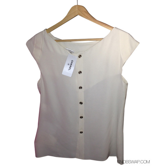 Brand New w/ Tags CHANEL silk blouse