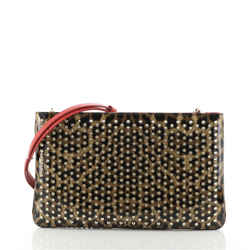 Loubiposh Clutch Printed Spiked Patent