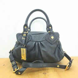 Marc by Marc Jacobs Black Leather Ruched Removable Crossbody Purse 1119AL