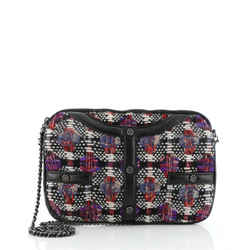 Girl Clutch on Chain Quilted Tweed Medium