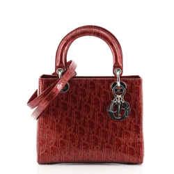 Vintage Lady Dior Bag Ultimate Embossed Patent Medium