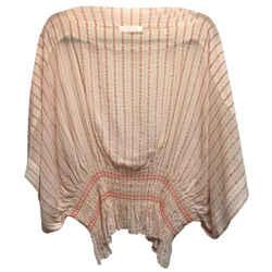 Chloe Orange Skin Silk and Cotton Blouse Size: 8 (M)