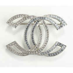 Chanel Crystal Chain Mania CC Brooch