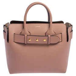 Burberry Pink Leather Small Triple Stud Belt Bag