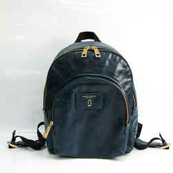 Marc Jacobs M0013258 Unisex Leather Backpack Dark Blue BF518648