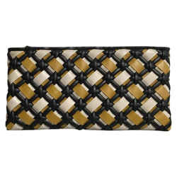 "Marni Braided Quilted Leather Clutch 13.75""L x 1.5""W x 7""H"