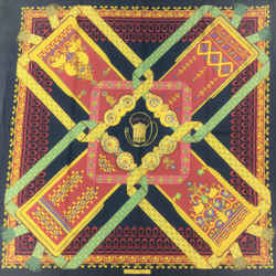 Hermes Brins D'or Square Silk Scarf