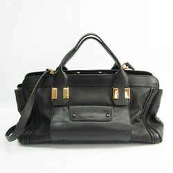 Chloe Alice Large S161703 Women's Leather Handbag,Shoulder Bag Black BF528467