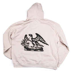 Yeezy - New - Men's Calabasas Eagle Hoodie - White Black Logo Sweatshirt - US XL