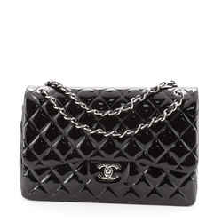 Classic Double Flap Bag Quilted Patent Jumbo