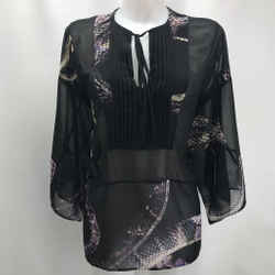 Just Cavalli Black Printed Blouse Small