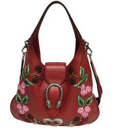 """Gucci Dionysus Cherry Blossom Red Leather Hobo Bag 11""""L x 14""""W x 2""""H Item #: 24162729"""