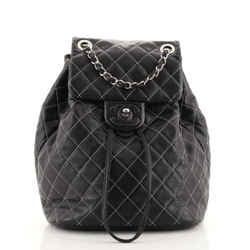 Covered CC Chain Backpack Stitched Lambskin Small