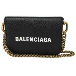 Balenciaga Black Mini Leather Wallet