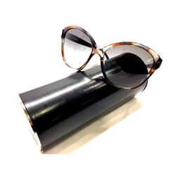 BVLGARI  Style: #8092-B 5202/11  Brown/Blue Moc-Tortoise Frame Blue-Tint Lenses  Crystal Detail Sunglasses/Case