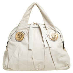Gucci Off White Leather Small Hysteria Hobo