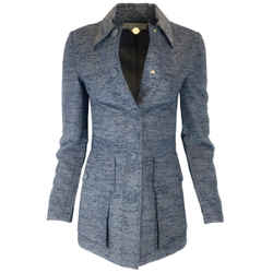Stella McCartney Blue Chambray Tweed Jacket