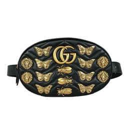 Gucci Gg Marmont Matelasse Animal Stud Belt Bag