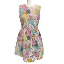 Valentino Pastel Multi Lace Sleeveless Casual Dress