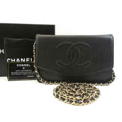Chanel  Black Caviar Wallet on Chain Flap Timeless WOC 2CA922