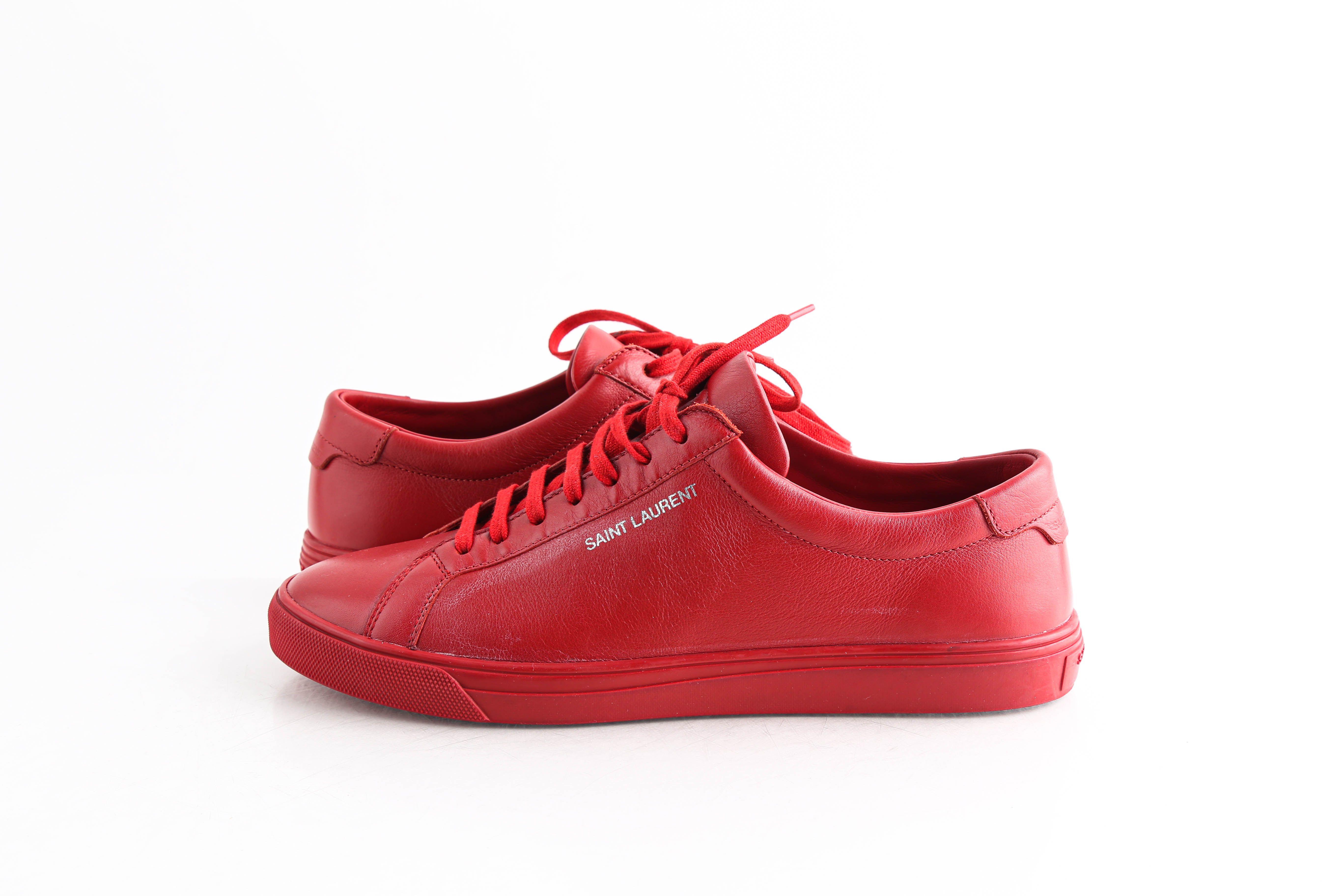 Saint Laurent Red Andy Sneakers | LePrix