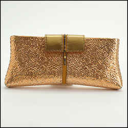 Rdc10047 Authentic Vbh Copper Metallic Poche Clutch