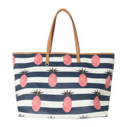 Tory Burch Kerrington Striped Pineapple Tote