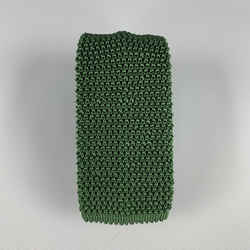 Charvet Knitted Forest Green Textured Silk Tie