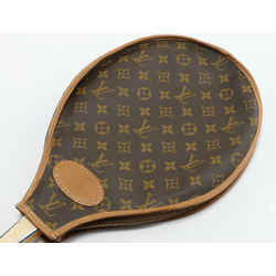 Vintage Louis Vuitton Tennis Racket Cover With Davis Classic Racket