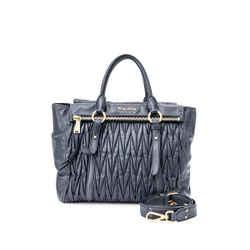 Pre-Owned Miu Miu Matelasse Top Handle Bag