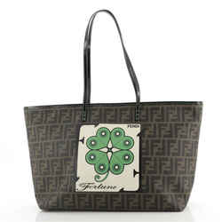 Roll Tote Printed Zucca Coated Canvas Medium