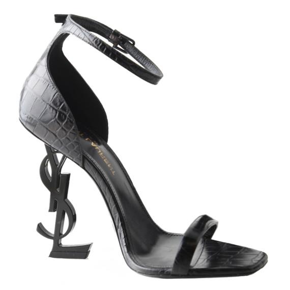 Ysl Opyum Crocodile Embossed 110 Sandal Heels