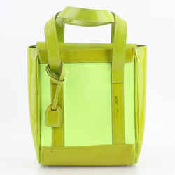 Gucci Lime Green Patent Leather Fabric Mini Vintage Tote