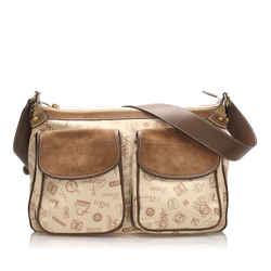 Vintage Authentic Loewe Brown 160th Anniversary Canvas Shoulder Bag Spain