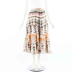 Christian Dior Skirt Multicolor Tie Dye Cotton Maxi SZ 42