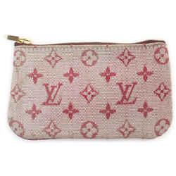 Louis Vuitton Bordeaux Monogram Mini Lin Key Chain Pochette Cles Keychain 862479