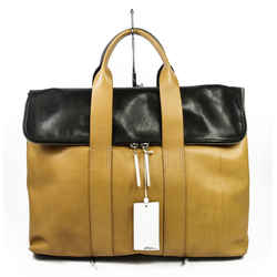 3.1 Phillip Lim Tan & Black Leather 31 Hour Foldover Tote