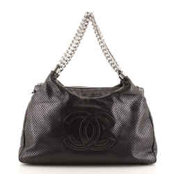 Rodeo Drive Hobo Perforated Leather Small