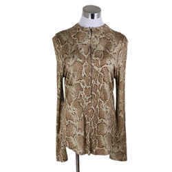 Chloe Beige Brown Animal Print Longsleeve Size 4