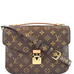 LOUIS VUITTON Metis Pochette Monogram Canvas Crossbody Bag Brown