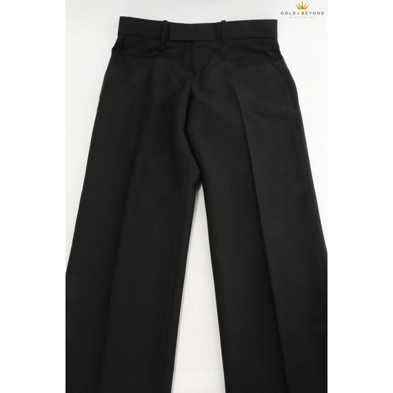 Alexander Mcqueen Woman's Straight Leg Wool Blend Black Pants
